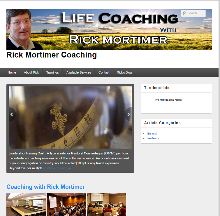 Life Coaching With Rick Mortimer